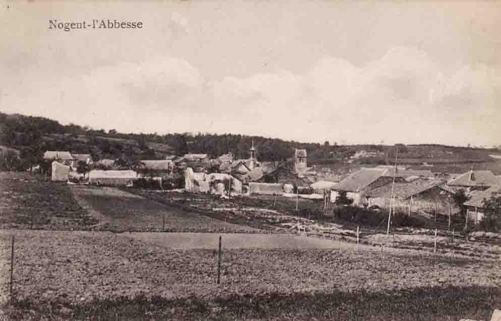 Nogent l'Abbesse en 1914