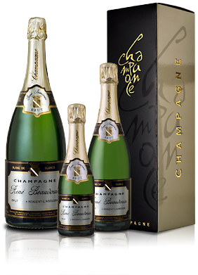 Range of bottles Champagne Brut Blanc de Blancs René Beaudouin